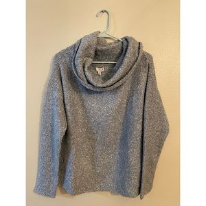 SO Off The Shoulder Boucle Pullover - Hthr Gry